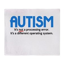 Autism Not a Processing Error Throw Blanket