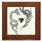 longfeng heart Framed Tile