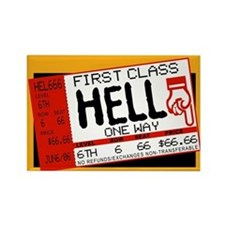 Ticket To Hell Rectangle Magnet