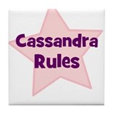 Cassandra Rules Tile Coaster