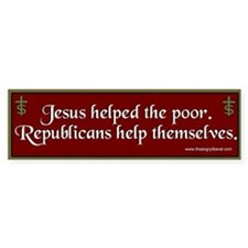 """Jesus/Republicans"" Bumpersticker"