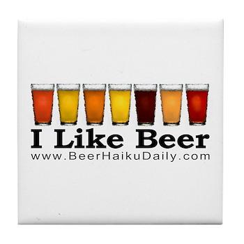 Beer Haiku Daily Tile Coaster