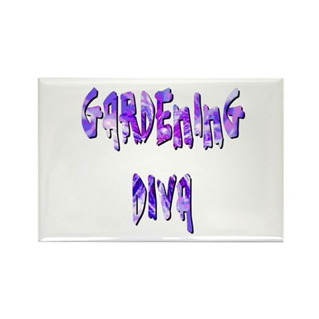 Gardening Diva Rectangle Magnet