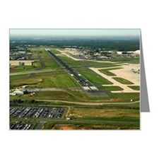 Aerial view of airport, Char Note Cards (Pk of 20)
