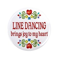 "Line Dancing Joy 3.5"" Button (100 pack)"