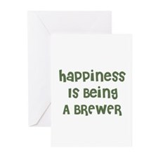 Happiness Is Being A BREWER Greeting Cards (Packag