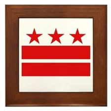 3 Stars 2 Bars Framed Tile