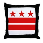 3 Stars 2 Bars Throw Pillow