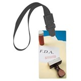 Bottle on file folders with FDA  Large Luggage Tag
