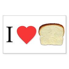 i love bread Rectangle Sticker