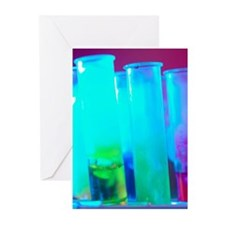 Test tubes with chemical Greeting Cards (Pk of 20)