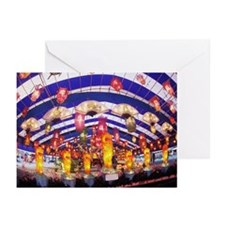 Low angle view of lanter Greeting Cards (Pk of 20)