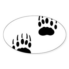 Badger Tracks Oval Decal
