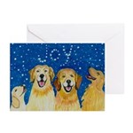 Golden Retriever Joy Christmas Greeting Cards