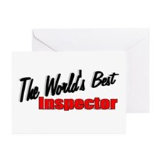 """""""The World's Best Inspector"""" Greeting Cards (Packa"""