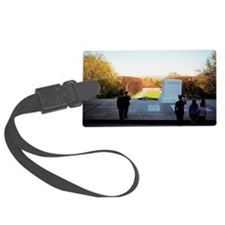 People standing at the Tomb of U Luggage Tag