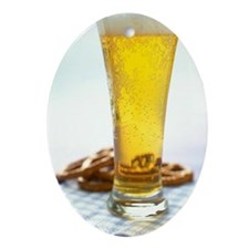 Beer and pretzels Ornament (Oval)