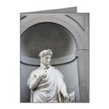 Statue of Dante Allighiere F Note Cards (Pk of 20)