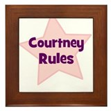 Courtney Rules Framed Tile