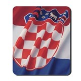 Close-up of the flag of Croatia Mousepad