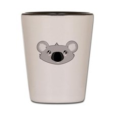 Koala Face (txt) Shot Glass