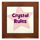 Crystal Rules Framed Tile