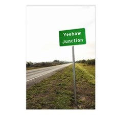Road sign for Yeehaw Junc Postcards (Package of 8)
