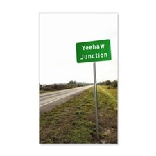 Road sign for Yeehaw Junction Wall Decal