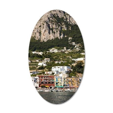 Marina Grande Harbor, Capri, 35x21 Oval Wall Decal