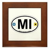 Marco Island - Oval Design. Framed Tile