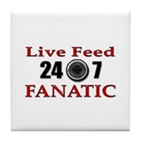 Live Feed Fanatic Tile Coaster