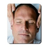 Man getting facial massage Mousepad