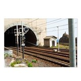 Railroad tracks passing t Postcards (Package of 8)