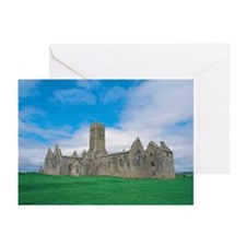 view of a castle on a gr Greeting Cards (Pk of 10)