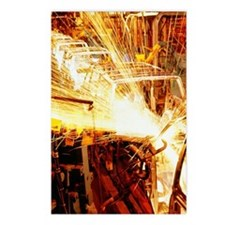 Robots welding automobile Postcards (Package of 8)