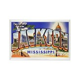 Jackson Mississippi Greetings Rectangle Magnet