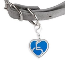 Handicap sign Small Heart Pet Tag