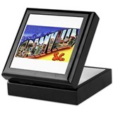Greenville South Carolina Greetings Keepsake Box