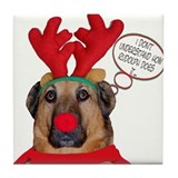 Boxer Christmas Tile Coaster