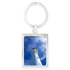 Lighthouse Looking from Below Portrait Keychain