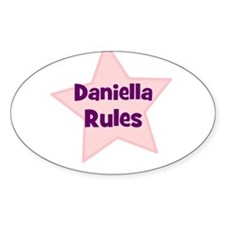Daniella Rules Oval Decal