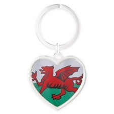 The Welsh flag Heart Keychain