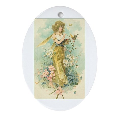 Victorian Fairy Oval Ornament