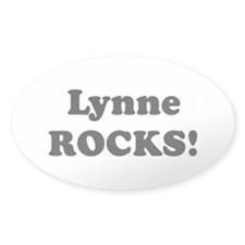 Lynne Rocks! Oval Decal