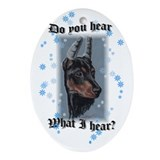 Doberman Puppy Oval Ornament