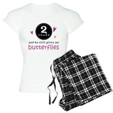2nd Anniversary Butterflies Pajamas