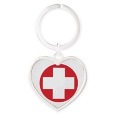 First aid kit Heart Keychain