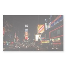 Times Square at night Decal
