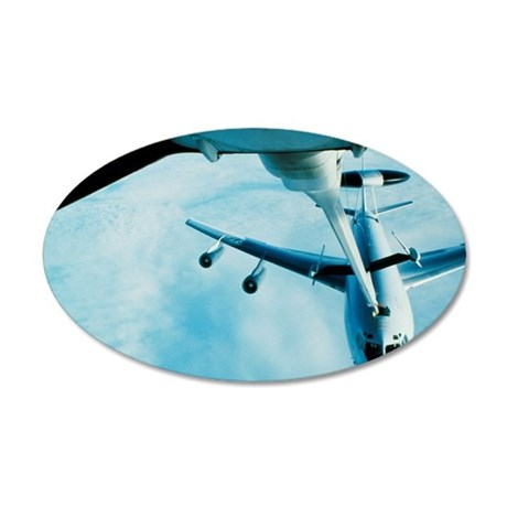 Refueling of an E-3B Sentry  35x21 Oval Wall Decal