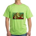 Merry Christmas Santa - Horn Playing Santa Green T